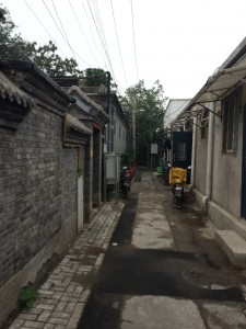 Our hutong by light of day