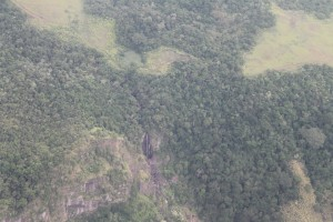 Waterfall from plane