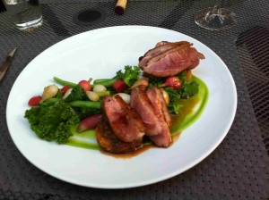 ROASTED YARROW MEADOWS DUCK BREAST WITH BLACK CURRANT GASTRIQUE